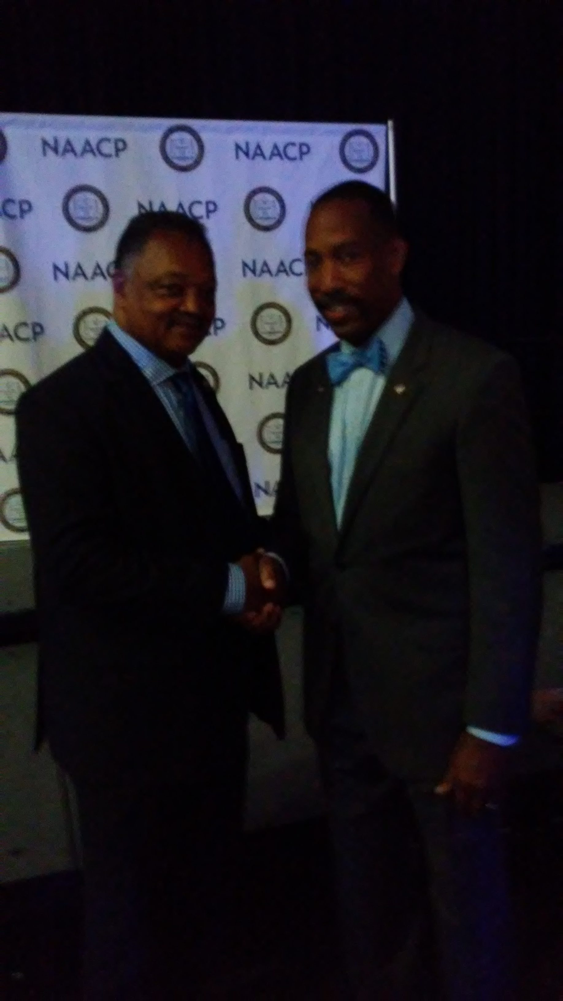 With Jesse Jackson at 2017 NAACP convention
